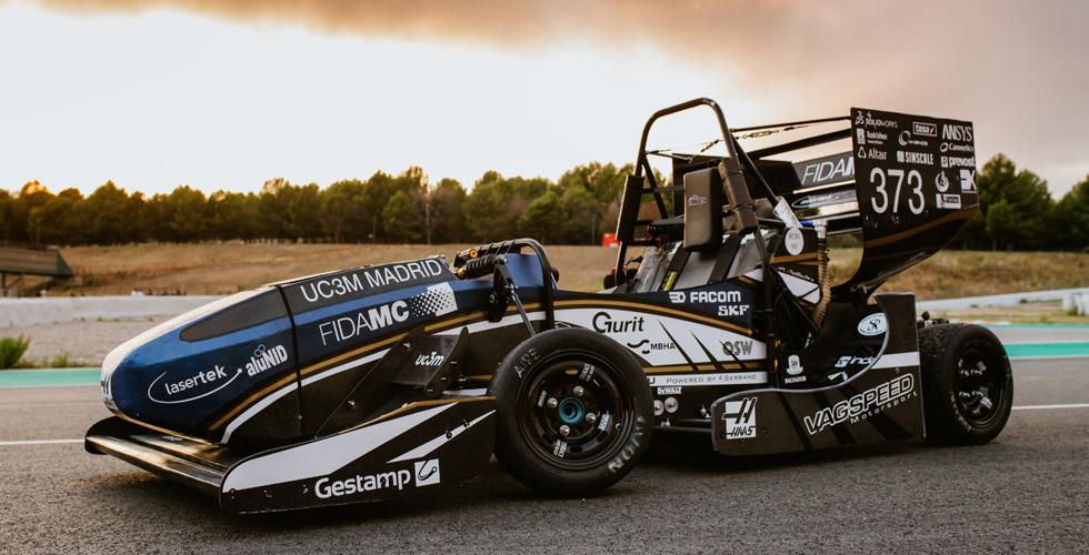 Nose cone impreso en 3d para el monoplaza del equipo Formula UC3M